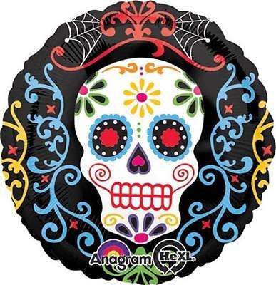SET OF 2 Sugar Skull Mexican Day of The Dead Dia De Muertos BALLOONS Free Ship
