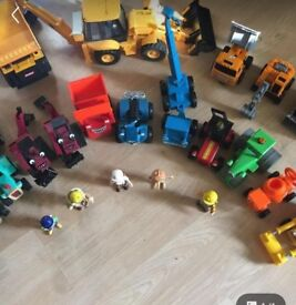 Bob the builder toys plus a few others