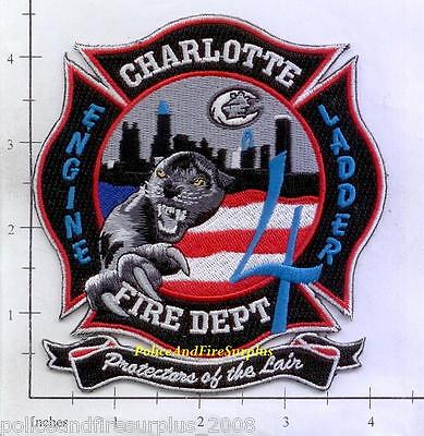 North Carolina - Charlotte Station 4 NC Fire Dept Patch - Protectors of the Lair