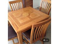M&S wooden table & chairs