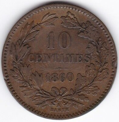 1860 Luxembourg 10 Centimes***Collectors***