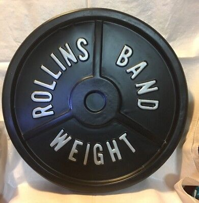 ROLLINS BAND Promo Prop Weight Display Sign 1994 Henry Rollins EXTREMELY RARE