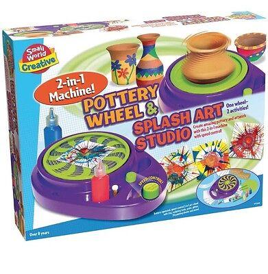 NEW Small World Creative Pottery Wheel And Splash Spin Art Studio Paint -
