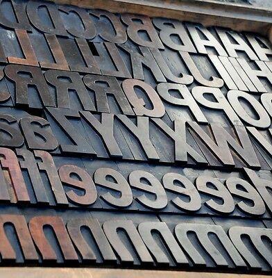 Letterpress Wood Printing Blocks 198pcs 3.54 Tall Alphabet Wooden Type Woodtype