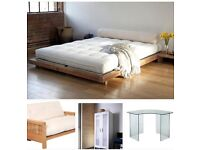 HOME CLEARANCE: BED FRAME / FUTON / DESK / CLOSET