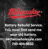 Rebuild service for Milwaukee V18  48-11-1830  5 A/H Cells EXTREME CAPACITY