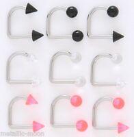 Steel/acrylic Lip Loops Lippy Loop Lip Piercing Monroes Labrets Cone Or Balls - unbranded - ebay.co.uk