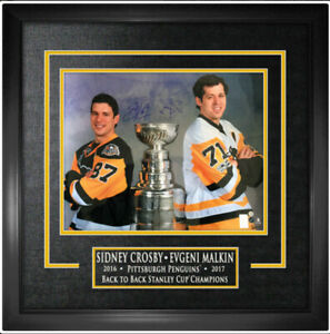 Crosby / Malkin Dual Signed 16x20 Back to Back Champions