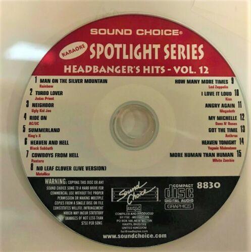 SOUND CHOICE KARAOKE SPOTLIGHT CD+G -8830 -HEADBANGERS HITS -VOL 12 - CDG