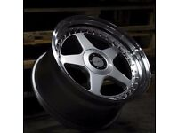 "18"" BRAND NEW DARE DR-F5 ALLOY WHEELS FITS A3 A4 A6"