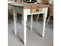 Small Pine Farmhouse Shabby Chic Country Rustic Style Kitchen Table