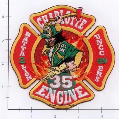 North Carolina - Charlotte Engine 35 Battalion 2 UNCC 49 ERS NC Fire Dept Patch
