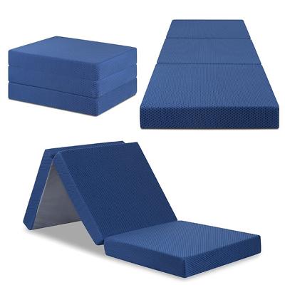 TriFold Memory Foam Mattress Sleeper Portable Camping Dorm B