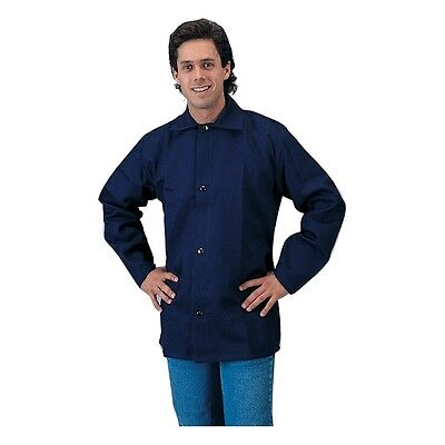 Tillman 6230B 9oz Navy Blue FR Cotton Welding Jacket - XL