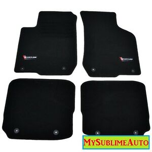 tapis sol audi a3 8l quattro s3 1996 2003 logo velours sportline brod neufs ebay. Black Bedroom Furniture Sets. Home Design Ideas