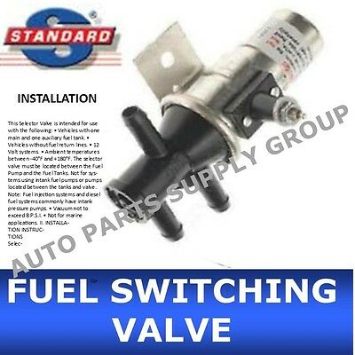 Fuel Tank Selector - New FUEL TANK SELECTOR SWITCHING VALVE 3 PORT Main Aux gas FV1T FV1  DUAL Switch