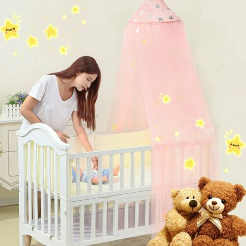 Cute Baby Princess Canopy Crib Netting Dome Bed Mosquito Net