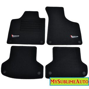 tapis audi a3 8p 8pa s3 rs3 sportback 2003 2013 velours logo sportline neufs ebay. Black Bedroom Furniture Sets. Home Design Ideas