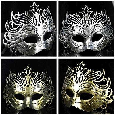 Römischer Gladiator Herren Halbschuhe Filigrane Maskerade Maske Halloween Kostüm (Gladiator Kostüme Schuhe)