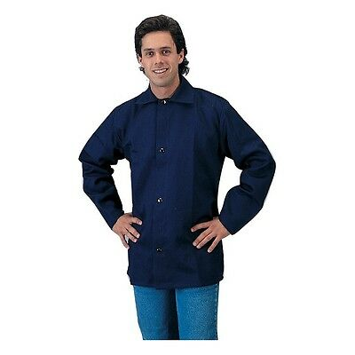 Tillman 6230b 9oz Navy Blue Fr Cotton Welding Jacket - L