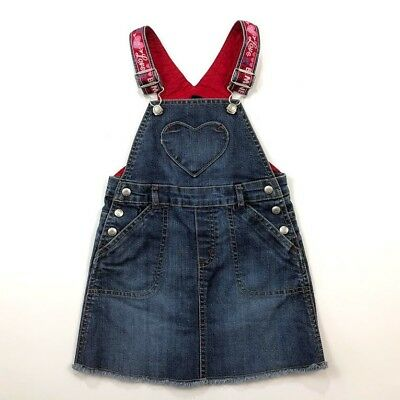 Baby Gap 4 T Jean Valentines Heart Denim Jumper Dress