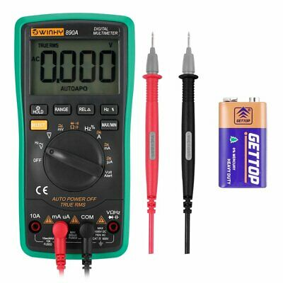Winhy Digital Multimeter Auto-ranging W Lcd Display W Alligator Clips Wo