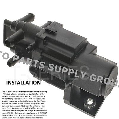 6 Port Fuel Gas Dual Tank Selector Valve Chevy Dodge Ford GMC Pickup Truck U7001
