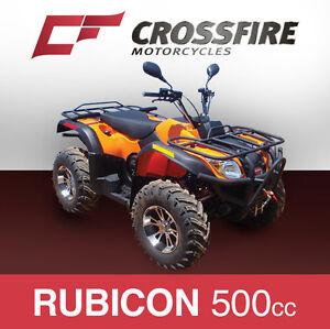 500cc Rubicon QUAD ATV DIRT MOTOR FARM BIKE 4X4 Gen 3 RED