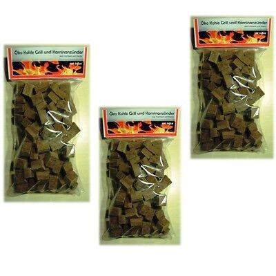 300  Grill Anzünder Holz Kohleanzünder Anzündwürfel  aus Naturholz mit Wachs
