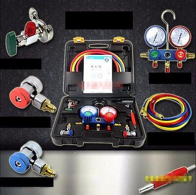 Car A/C refrigerant R134a table set,diagnostic AC repair tools F12,R12,R22,R404A for sale  Shipping to Canada