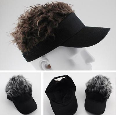 Lovely Fake Flair Hair Sun Visor Hats Unisex Baseball Cap Golf Cap Cosplay - Hair Visors