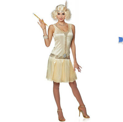 Brand New 20's Flapper Debutante Adult Costume (Champagne) Medium Sexy (Champagne Costume)