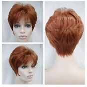 Short Red Brown Cosplay Wig