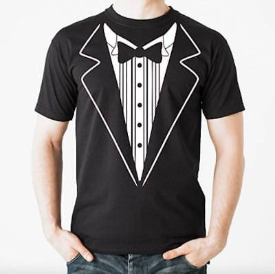 Tuxedo T Shirt TUX Funny Prom Wedding Groom Costume Outfit T shirt Tee S-3XL NEW (Costume Tee)