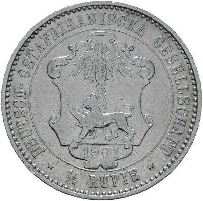 Deutsch Ostafrika 1/4 Rupie 1901 Guilelmus II. J. N711 (M321) gebraucht kaufen  Waldbüttelbrunn