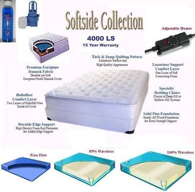 King Softside Waterbed Mattress with Cotton Pillowtop, Heater, Bladder & Liner