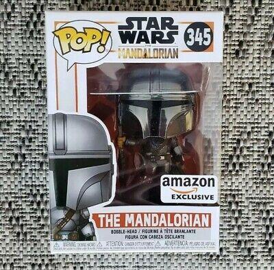 Funko Pop! Star Wars: The Mandalorian - (Chrome) Amazon Exclusive brand new 345