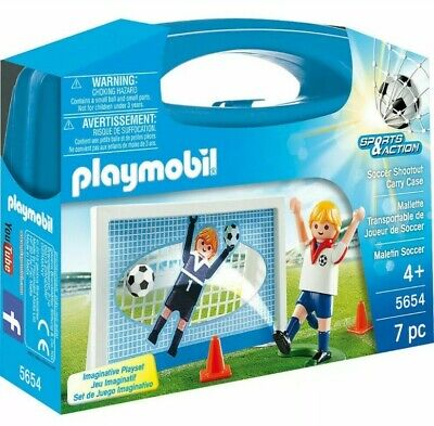 Playmobil Sports & Action Football Soccer Shootout Carry Case - 5654 7PC SET new