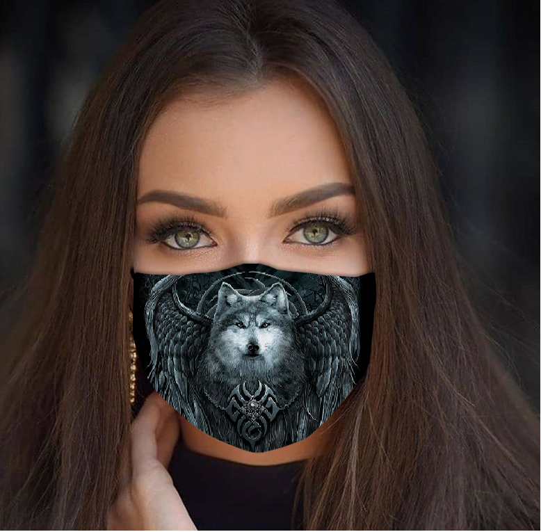Beauty Wolf Cloth Face Mask