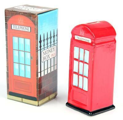 Londres Cabina Roja Hucha Reino Unido, Dinero Del Banco Cerámica, Nuevo