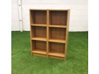 Oak twin bookcase cheap office furniture Harlow London Essex