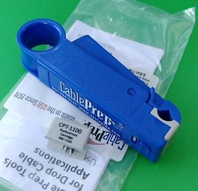 New Cable Prep Cpt-1100 Drop Cable Stripper Rg711 With Spare Cartridge