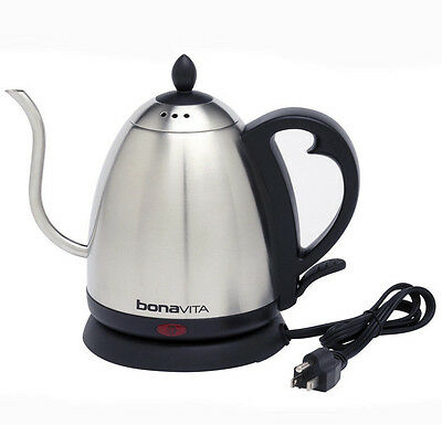 Bonavita 1.0 Liter Electric Gooseneck Stainless Kettle - Authorized Seller