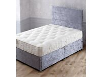 Double or Kingsize memory foam orthopaedic bed complete