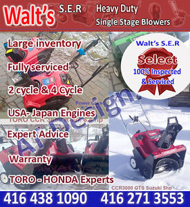 TORO CCRs Snowblowers Top selection Top Quality WARRANTY
