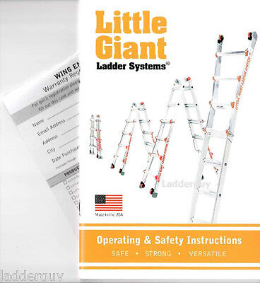 Little Giant Ladder Operating Safety Instruction Booklet Owners Manual