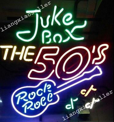 19x15 Juke Box Rock Roll Back To The 50s Beer Bar Neon Light Sign Free Ship