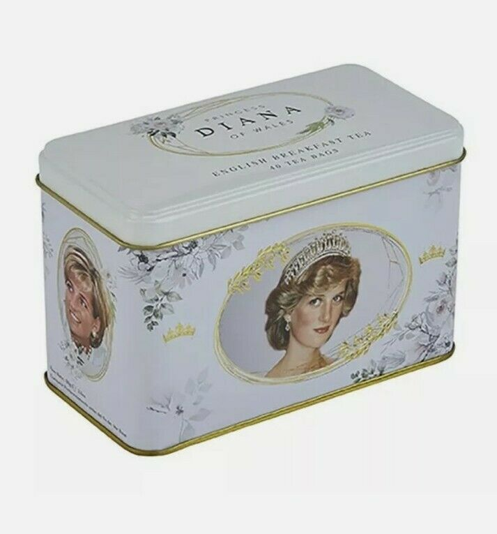 NEW - Princess Diana Of Wales English Breakfast Tea (40 bags) in Collectible Tin
