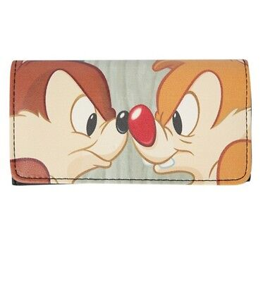 Disney Chip N Dale Trifold Flap Wallet New With Tags!