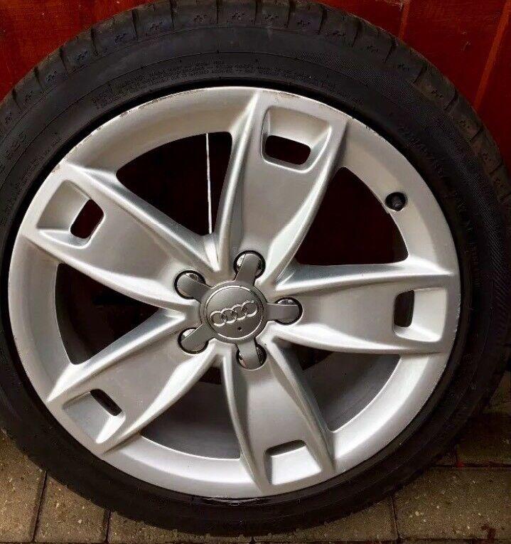 "Genuine Audi A3 S line 17"" alloys tyres"